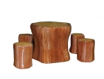 Log Table & Stools